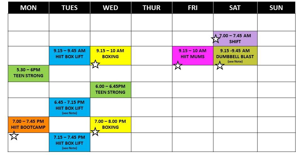 NEW TIMETABLE  Part 2